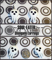 Soul Eater Shinigami Skull Mask Earrings by YellerCrakka