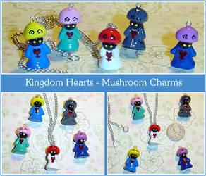 Kingdom Hearts Mushroom Charms by YellerCrakka