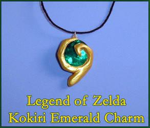 Zelda - Kokiri Emerald Charm by YellerCrakka