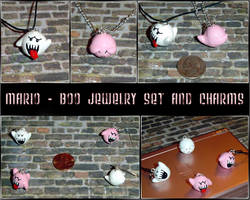 Mario - Boo Charms and Jewelry by YellerCrakka