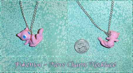 Pokemon - Mew Charm Necklace by YellerCrakka