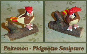 Pokemon - Pidgeotto Sculpture by YellerCrakka