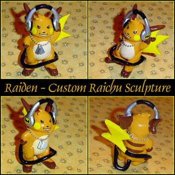 Raiden Custom Raichu Figurine by YellerCrakka