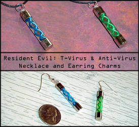 Resident Evil - T-Virus Charms by YellerCrakka