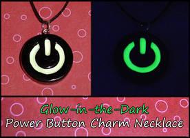 Glowing Power Button Necklace by YellerCrakka
