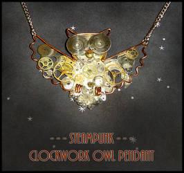 Steampunk - Clockwork Owl by YellerCrakka