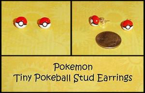 Pokemon Pokeball Stud Earrings by YellerCrakka