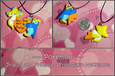 Pokemon - Jirachi and Prinplup by YellerCrakka