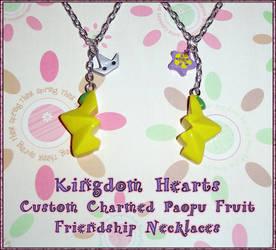 Kingdom Hearts - Friendship Paopu Fruit Charm Set by YellerCrakka