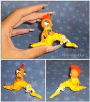 Pokemon - Scraggy and Scrafty Sculpture - Handmade by YellerCrakka