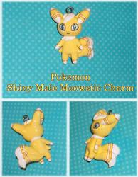 Pokemon - Shiny Male Meowstic Charm by YellerCrakka