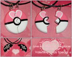 Pokemon Love Ball Friendship Necklace I Choose You by YellerCrakka