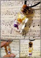 Legend of Zelda - Tatl and Tael Fairy Necklace by YellerCrakka