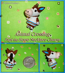 Animal Crossing - Papi the Horse Necklace Charm by YellerCrakka