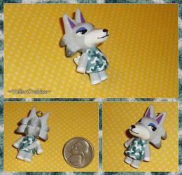 Animal Crossing - Fang the Wolf Charm - ACNL by YellerCrakka