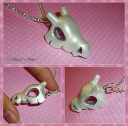 Pokemon - Shiny Cubone Skull Necklace - PKMN Charm by YellerCrakka