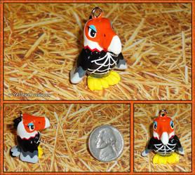 Animal Crossing - Amelia Eagle Necklace Charm by YellerCrakka