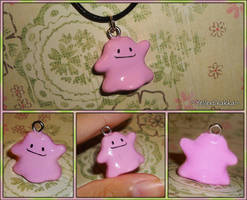 Pokemon - Ditto Necklace - Handemade PKMN Charm by YellerCrakka