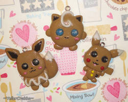 Pokemon - Gingerbread Cookie Charms - Christmas by YellerCrakka