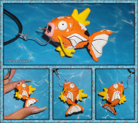Pokemon - Magikarp Necklace - Calico Magikarp Jump by YellerCrakka