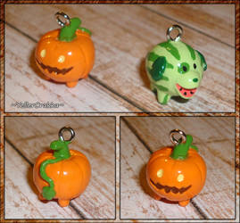 Steven Universe - Pumpkin Pup and Melon Mutt Charm by YellerCrakka