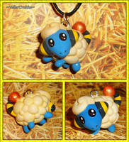 Pokemon - Mareep Charm Necklace by YellerCrakka