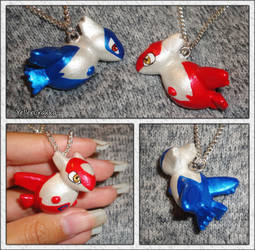 Pokemon - Latios and Latias Pokedoll Charms by YellerCrakka