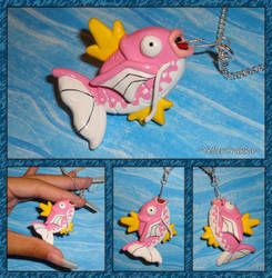 Pokemon - Pink Dapples Magikarp Charm by YellerCrakka