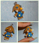 Animal Crossing - Tucker the Woolly Mammoth Charm by YellerCrakka