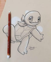 Squirtle Drawing by Ppoint555