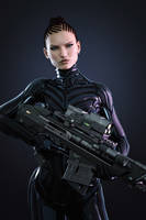 [DAZ3D] - Ronya - The Sniper by PSK-Photo