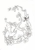 Spring Night in Flight Tattoo by AzhiDahaki