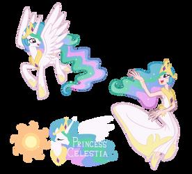 Princess Celestia - Pony/ Human by Trinityinyang