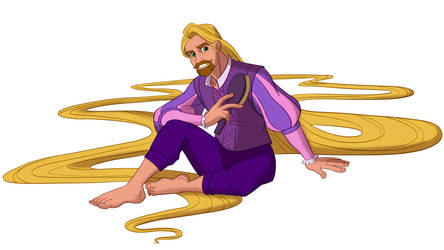 Disney Male Rapunzel by Trinityinyang