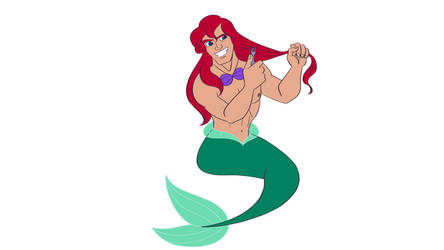 Disney Male Ariel (Clean Cut) by Trinityinyang