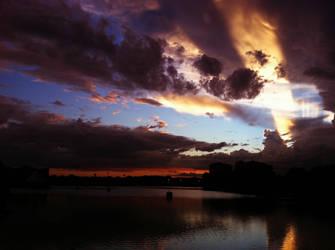 Sunset at Crane's Roost by danceafterdark