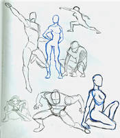 Practicin' Action Poses by MerrelRyker