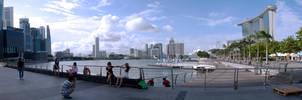 Marina Bay Wide shot by amiyain