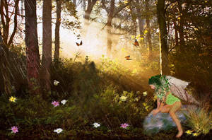 Fairy of Greenery by LindArtz