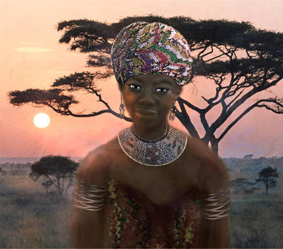African Sunset by LindArtz