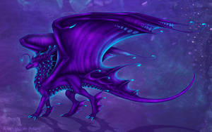 Deep sea dragon (purple) by Selianth