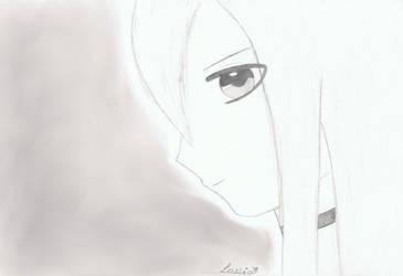 Profile of a manga girl / Profil d'une fille manga by erza51rock