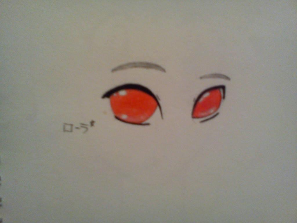 Manga red eyes/ Yeux manga rouges by erza51rock