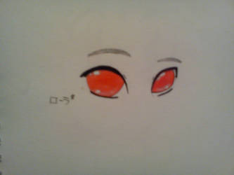 Manga red eyes/ Yeux manga rouges by erza51rock