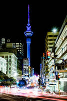 Auckland Streets at Night by wolfblueeyes