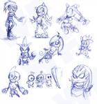 Sketch Challenge Set 7 by ShuraMune-Sonic