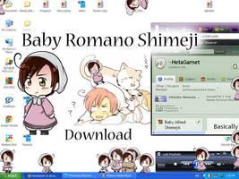 Baby Romano/ Chibiromano Shimeji by HetaGarnet