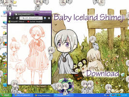 Baby Iceland Shimeji by HetaGarnet