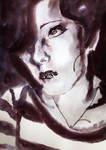 Portrait Noir (Inktober) by CpointSpoint