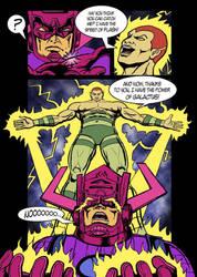 Galactus_vs_Amazo fan art2 by nikotem